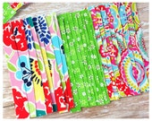 Fabric Tape Strips, Adhesive Fabric Tape, Planner Supplies, Pretty Tape - Green Daisy Floral