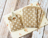 KRAFT Polka Dot Itty Bitty Bags small paper bags