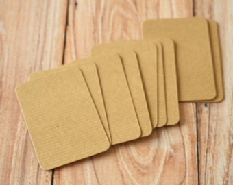 500pc RIPPLED Brown Eco Series Business Card Blanks