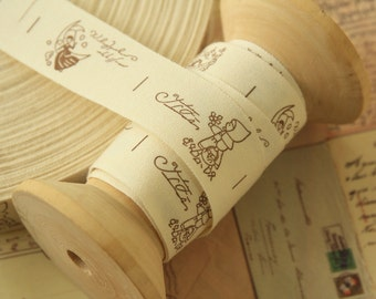 3m sweet COUNTRY GIRL cotton fabric ribbon tape