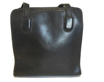 Vintage Leather handbag, Large Thick Leather Shoulder Tote bag