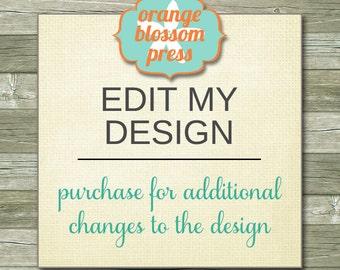 Edit/Change My Design