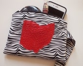 Wristlet Zipper Pouch, Ohio Love, Ohio Pride, Miami University, University of Cincinnati, Coin Purse, Make Up Bag, Small Purse