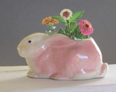 Vintage Art Pottery Vase - rabbit - bunny - planter