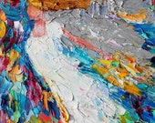 Original oil painting Angel Rising abstract palette knife impressionism on canvas fine art by Karen Tarlton