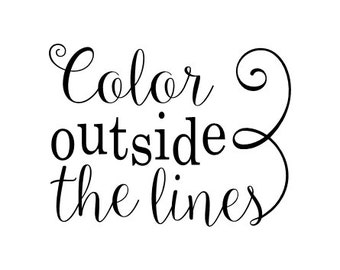 Color outside the lines vinyl wall decal