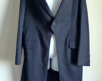 Y's Yamamoto black frock coat size 3
