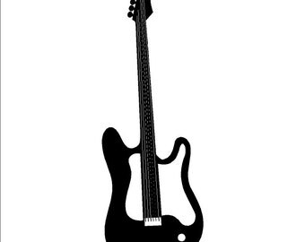 Electric Guitar Wall Decal Removable Guitar Wall Sticker
