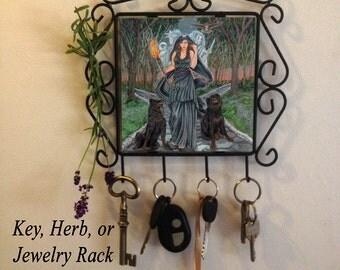 Hecate Rack for Keys or Herbs