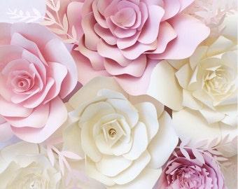 Paper Flower Wall, paper flower backdrop, giant paper flowers, paper flower backdrop, photo shoot props, paper flower decor