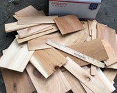 Cedar Wood Veneer Pieces - 60+ pieces - Teacher Classroom Supply - stuffed full Med Flat Rate Box
