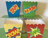 Superhero Candy / Treat Cups -  Birthday Party Favor-   Set of 12