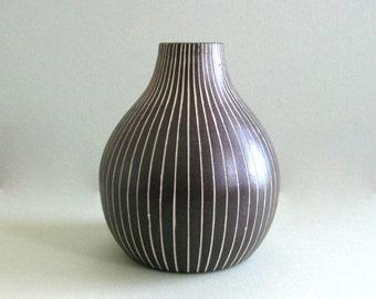 Vintage Art Vase Fine Art Vase Fine Art Ceramic Vase Art Pottery Vase Rustic Vase Brown Vase Flower Vase Decorative Vase Large Vase Clay