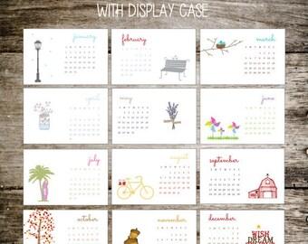 Desk Calendar, 2017 Calendar, Calendar 2017, Office Calendar, Desktop Calendar, Mason Jars, Office Gift, Christmas Gift, Stocking Stuffer
