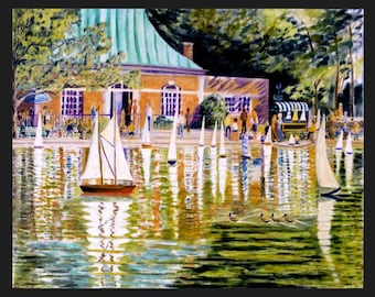 Central Park, Model Boat Pond, by Ronnie Levine