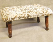 Foot Stool , Primitive , Wooden Stool , Upholstered , Small Stool , Seating , Foot Rest , Stools , Rustic , Cottage Chic , Seat , Stool