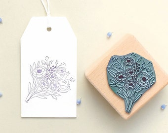 Plant Stamp | Stamp Flower Bouquet #01  | Botanical Plant Rubber Stamp | Floral stamp | Flower Stamp | Nature stamp | Birthday Flower Stamp