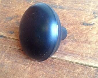 Vintage Black coated steel door knob E2201