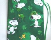 Party Favor Bag - Snoopy - Shamrocks - Gifts - Goodies - St Patricks