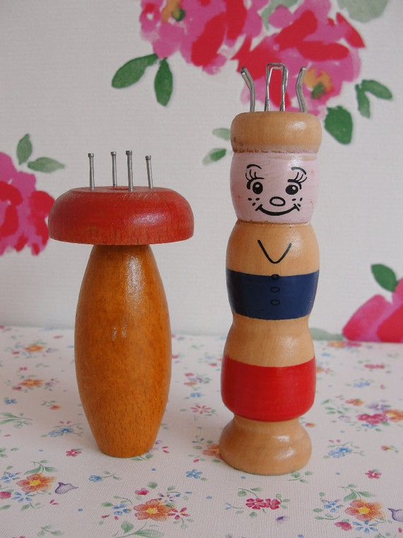 Knitting Nancy Vintage : Vintage wooden french knitting dolls nancy hand