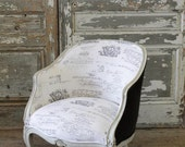 Vintage Barrel Chair in Linen