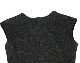 Sweetest Charcoal Jersey Dress with Pleated Skirt- Size S/M