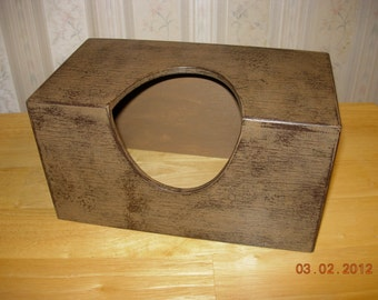 Primitive Tissue Box Cover - Home Decor- Puffs Style 124ct. Size - Made to Order