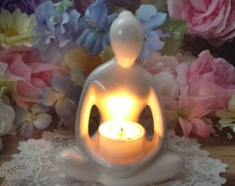 Meditating Woman tealight holder