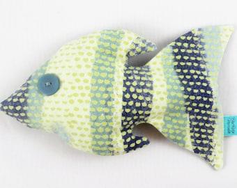 Plush Fish Toy - Stuffed Fish - Baby Nursery Decor - Lake House/Beach Cottage Decor - Child's Room - Soft Sculpture - Folk Art - FENNIGAN