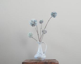 Pom Pom Flowers - Purple/Teal/Turquoise/Cream - Weddings - Minimalist Decor - Baby Nursery/Kids' Room Decor - Simple - Shower Centerpiece