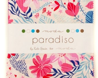 "Paradiso by Kate Spain for Moda ~ 100% Cotton  ~ 42 / 5"" Square Charm Pack"