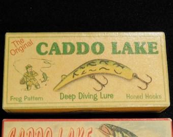 Caddo Lake Texas bass fishing lure boxes lake house  cabin decor Uncertain Texas