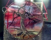 Reserved for Sally Stained Glass Tree of Life Celebration of life streaky glass