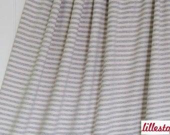 "Lillestoff Stretchjersey ""Stripes"" Sand / Grey Mottled Organic Cotton Fabric"