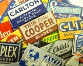 Vintage Art Deco Safety Razor Blades In Paper Wrappers (24) Each Total Collection All Different Colorful Graphics