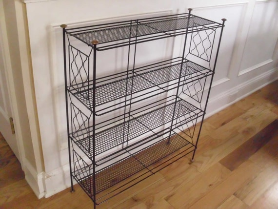 Vintage 1950's/1960's 4 Tiered Black Metal By