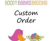 Custom Straight Panel Crib Skirt