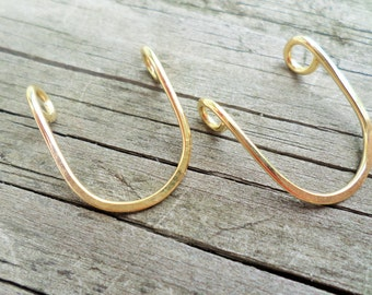 U Connectors 2 pcs choose from Copper, Oxidized Copper, Brass or Sterling Silver