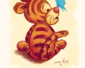 Winnie the Pooh - Baby Tigger Art Illustration Print