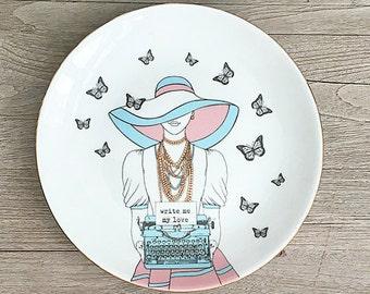 Write me my love Porcelain Plate