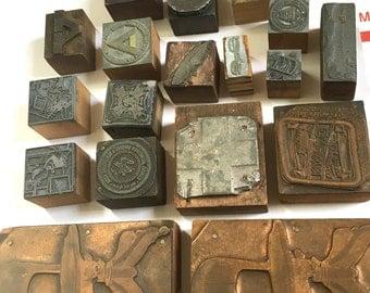Destash of Old Printers Blocks