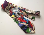 Superhero inspired Ties - Men's Necktie avengers marvel comic - ready to ship