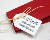 CAUTION Message Olive Wood Stamp