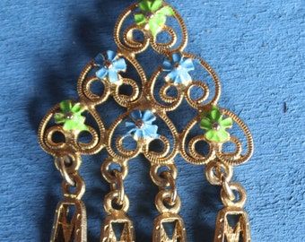 Vintage Boho/Gypsy Style Filigree Pendant Necklace