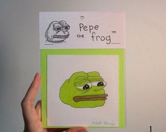 Original Pepe drawing by Matt Furie
