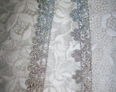 2 yds.of silver metallic trim, more avail.