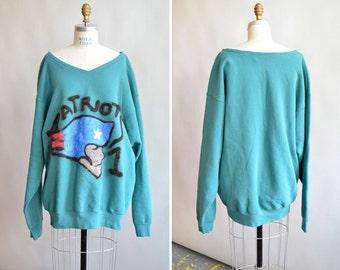 Vintage handmade PATRIOTS sweatshirt