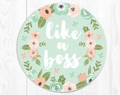 Mouse Pad Mousepad Like a Boss Graduation Sorority Graduation Gift College Graduation Gift for Her Mint Mousepad Mint Green Mouse Pad