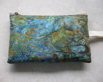 water print batik print large padded bag