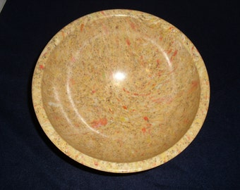 Tan Yellow Confettei Texas Ware Melamine Bowl